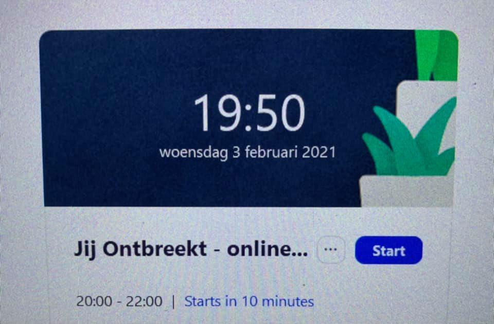 Online bijeenkomst 3 februari 2021